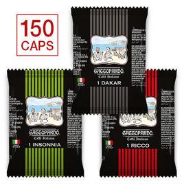 150 Capsule MISTE Caffè Gattopardo To.Da Compatibili Uno System con Spedizione Gratis