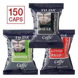 150 Capsule MISTE Caffè Gattopardo To.Da Compatibili Lavazza Point con Spedizione Gratis